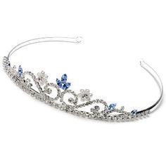 Amazon.com: Blue Crystal Wedding Headband Bridal Tiara 163B: Clothing