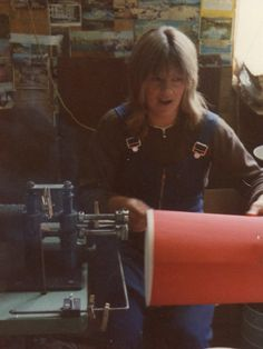 1970 || Mayfield worker Carol hand making lamp shades.