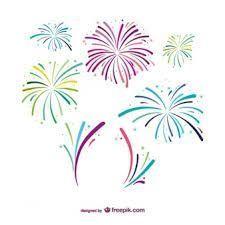 Feuerwerk Clipart - Lizenzfrei - GoGraph