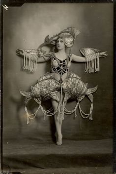 1920's showgirl. Fish outfit