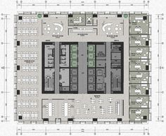 Office Layout Plan, Office Space Planning, Office Floor Plan, Craftsman Floor Plans, Modern Floor Plans, Corporate Interior Design, Corporate Interiors, Hotel Architecture, Architecture Drawings