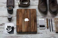 Elegant Dark Varnished Wood Vinyl Skin Decal for door Cliqueshops