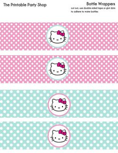 Water Bottle for Hello Kitty Party Bunny Party, Cat Party, Sanrio Hello Kitty, Decoracion Hello Kitty, Owl Labels, Anniversaire Hello Kitty, Hello Kitty Baby Shower, 1st Birthday Party For Girls, Hello Kitty Birthday Party Ideas