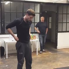 James Norton rehearsing for McMafia
