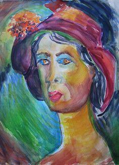 Marianne von Werefkin, Study:  Self-portrait, 1910