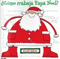 ¿Cómo trabaja Papá Noel? Precioso libro de la Editorial Blume. Lo tenemos en Kyrenia.