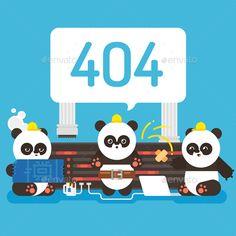 Error Page by JulyPluto Error page. Pandas repair server.