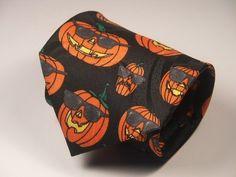 Halloween Mens Neck Tie -- Pumpkins with Shades !!