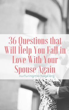 36 Questions That Will Help You Fall in Love With Your Spouse Again from Nurturing Marriage. Relationship advice, tips and ideas to support your relationship goals for happy friendships and happy relationships. Tools that work well with relationship quote Marriage Help, Healthy Marriage, Marriage Relationship, Happy Relationships, Happy Marriage, Marriage Advice, Love And Marriage, Relationship Questions, Successful Marriage
