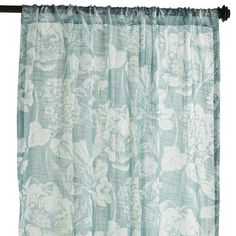 Forever in bloom, our Sochi curtain softens your room with an oversize floral pattern in blue. An instant update to your room, it boasts a fresh-fr...