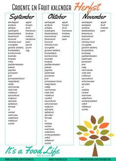 Downloads: groente en fruit kalender herfst   It's a Food Life