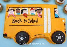 School Bus Cake by Mycakeschool.com, via Flickr