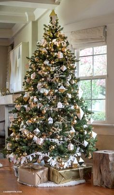 Lia Griffith, Gold and Silver Christmas Tree Ideas via Refresh Restyle