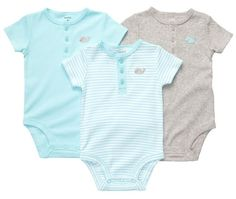 "Carter's ""Whale & Buttons"" 3-Pack Bodysuits (Sizes « Clothing Impulse"