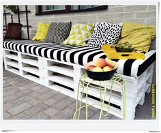 Terassi - Sisustuskuvia jäseneltä virpisalo - StyleRoom Outdoor Rooms, Outdoor Sofa, Outdoor Living, Outdoor Decor, Pallet Furniture, Outdoor Furniture Sets, Diy Cadeau, Diy Couch, Pallet Patio