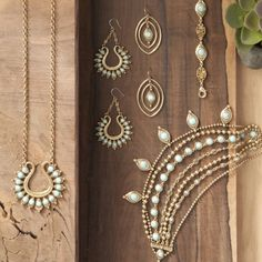 Vintage inspired. Completely modern. Love this gold and turquoise Lucky Brand jewelry.