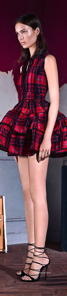 Dsquared2 Pre-Fall 2015 ♔ love the silhouette, could do without the plaid
