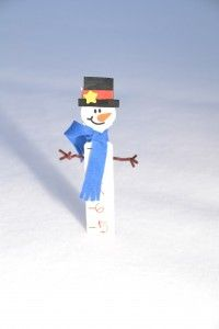 The Weekly Craft Snowman Measuring Stick
