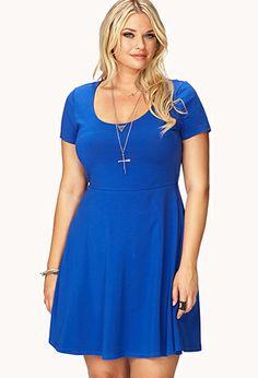 Plus Size No-Fuss A-Line Dress $12.80