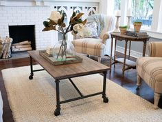 In the Living Room: Durable Rugs