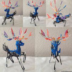 Xerneas 3Doodler Sculpture by Toriroz.deviantart.com on @DeviantArt