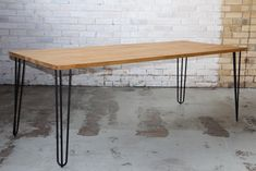Time for a dinner party? The solid timber dining table with hairpin legs will be perfect for your event. The table is suited to a wide range events incl...