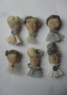 Maidoll brooches by Maidolls, via Flickr