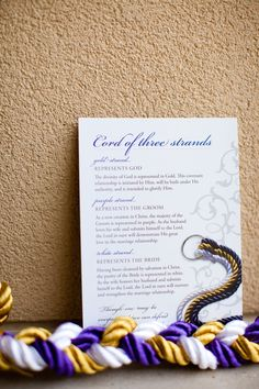 The God's Knot - Cord of Three Strands (alternative to a unity candle in a wedding ceremony)