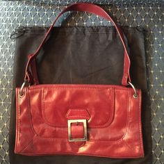 Kennet Cole bag Beautiful real leather red bag with silver hardware. Great condition! Kenneth Cole Reaction Bags Shoulder Bags
