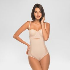 Annette Women's Faja Extra Firm Control Latex High Back Body Shaper - Beige Xxl