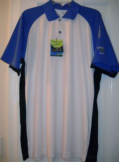 NEW $75 PAGE TUTTLE Cool Elite Heritage Oaks 3Tone Sun Protect Golf SHIRT~L~SALE #PAGETUTTLE #PoloRugby