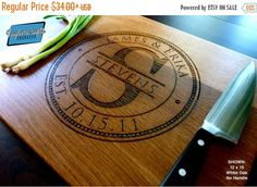 10% OFF THRU FEB Personalized Cutting by TaylorCraftsEngraved ~ $30.60 to 66.60 depending on size