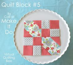 Diary of a Quilter - a quilt blog: Block Tutorial #5 - Virtual Quilting Bee