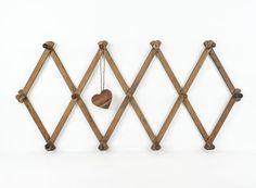 Vintage Rustic Wood Accordion Peg Rack / Wall by tawneyvintage, $18.00