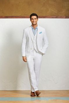 White Linen Suit For Nautical Or Beach Wedding Masculine Style Pinterest And