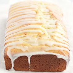 Soft and Moist Lemon Loaf: one bowl lemon loaf full of lemon flavor and drizzled with a tangy lemon glaze. Starbucks copycat!
