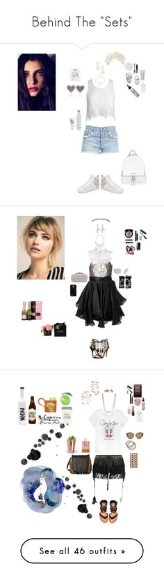 """Behind The ""Sets"""" by blackmagicmomma ❤ liked on Polyvore featuring Forte Couture, Sans Souci, Kennel & Schmenger, MICHAEL Michael Kors, A-Morir by Kerin Rose, Miss Selfridge, Design Lab, S'well, Serge Lutens and Too Faced Cosmetics"