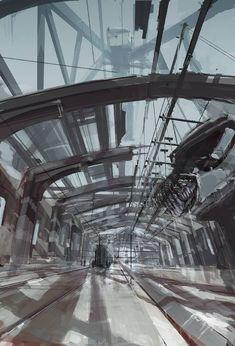 DIshonored concept art - slaughterhouse by Viktor Antonov