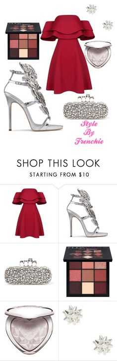 """""""Santa baby"""" by stylebyfrenchie ❤ liked on Polyvore featuring Giuseppe Zanotti, Alexander McQueen, Huda Beauty, Too Faced Cosmetics, santababy and stylebyfrenchie"""