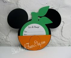 Mickey Mouse Pumpkin Party Invitation Spice up your party with these very cute Mickey Mouse pumpkin invitations. You will receive Halloween First Birthday, Mickey First Birthday, Mickey Halloween Party, Mickey Party, Birthday Fun, Birthday Ideas, Halloween Ideas, Birthday Parties, October Birthday
