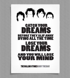Rolling Stones / Lyrics Posters by Jack Banting — Kickstarter
