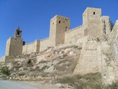 """CASTLES OF SPAIN - The Alcazaba of Antequera is a islamic  fortress in Antequera,Malaga, Spain . It was erected in the 14th century to counter the Christian advance from the north, over Roman ruins. The Arab Muslim invasion of the Iberian peninsula began in 711. Antequera (Roman Antikaria) was conquered around 716, and was renamed """"Antaquira"""". Its full name was Medina Antaquira, the word Medianh or Madinah meaning """"city"""" in Arabic."""