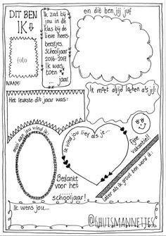 Handlettering, handlettering, afscheid juf einde schooljaar,  Vriendenboekje, diy, kleuters, kleuterklas, bedankje, tot ziens Jenaplanschool, Jenaplan,