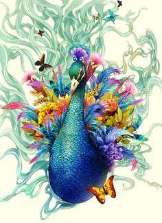 O mundo mágico nas ilustrações digitais de Song Gum-Jin