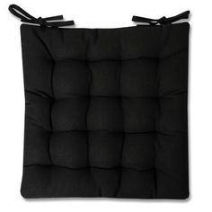 Charlton Home Tufted Cotton Cover Indoor Dining Chair Cushion Fabric: Black Balcony Table And Chairs, Outdoor Lounge Chair Cushions, Tufted Chair, Outdoor Dining Chair Cushions, Cushions On Sofa, Retro Office Chair, Office Chairs, Anti Fatigue Kitchen Mats, Custom Outdoor Cushions