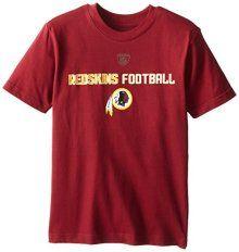 NFL Washington Redskins 8-20 Boys Line of Football S/S Tee - Official NFL T-Shirts and Hoodies at TeeShirtMadness.com