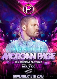 MORGAN PAGE PRESENTS A #MPP3D Experience. Come see the show Wednesday, November 13, 2013 in #ParkCity, #Utah!