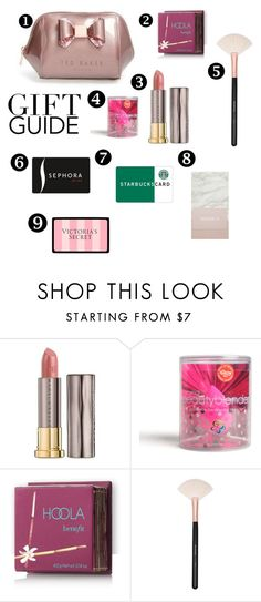 """""""Holiday Gift Guide bff"""" by notjuliette ❤ liked on Polyvore featuring Urban Decay, beautyblender, Hoola, Victoria's Secret, Sephora Collection and Forever 21"""
