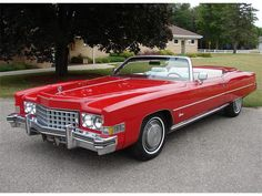 1973 Cadillac Eldorado convertible in Dynasty Red