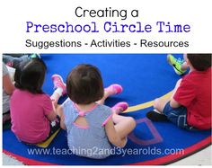 Teaching 2 and 3 Year Olds: Creating a Preschool Circle Time.  Love the idea about placemats